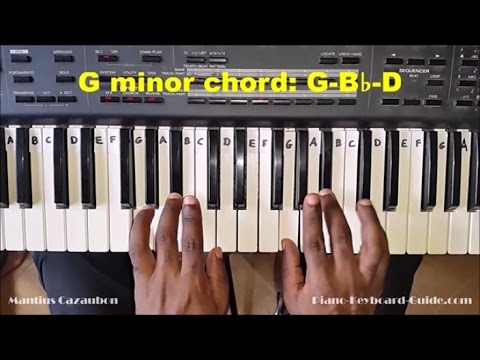 How To Play The G Minor Chord On Piano And Keyboard Gm Gmin Chord