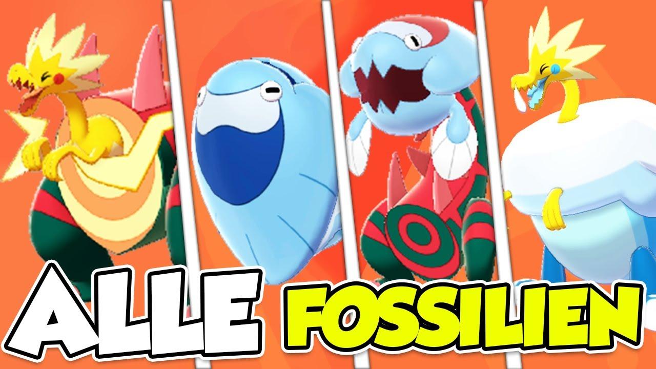 pokemon schwert fossile