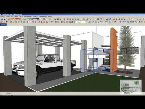 Sketchup tutorial render exterior nocturno vray youtube for Setting render vray sketchup exterior