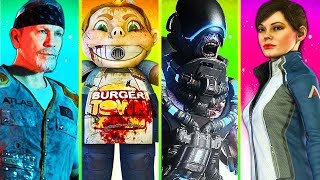 ALL ZOMBIES EASTER EGGS!! // ALL 4 MAIN QUESTS!! // CALL OF DUTY EXO ZOMBIES