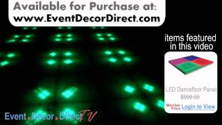 Event Decor Direct TV - EddyLight™ DELUXE LED Dancefloor Panels in Use