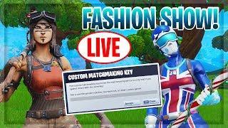 🔴Fortnite Fashion Show Live | Skin Competition | Fortnite Customs scrims (PS4,XBOX,PC,MOBILE,SWITCH)