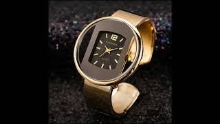 Часы Aliexpress женские кварцевые стальные золотого и серебряного