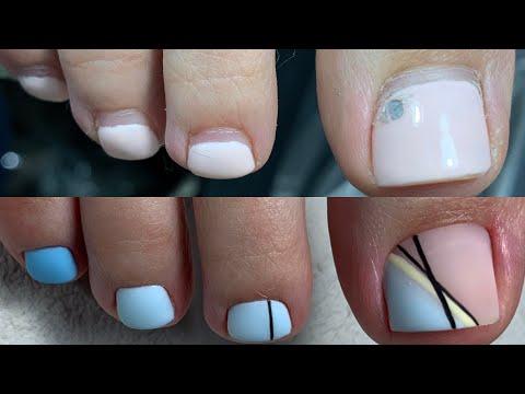 Эстетика в педикюре.Прозрачная кожа.История про брезгливость. Популярный дизайн ногтей.