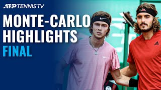 Stefanos Tsitsipas vs Andrey Rublev | Monte Carlo 2021 Final Highlights