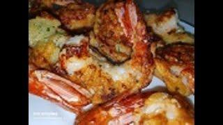 Жареные Креветки в Пивном Кляре/ Grilled Shrimps in Beer Dace