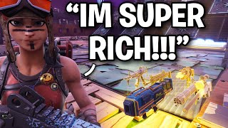 Insanely CRAZY RICH Scammer exposed... 😂 (Scammer Get Scammed) Fortnite Save The World