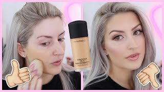 MAC STUDIO FIX FLUID FOUNDATION REVIEW | COMBO SKIN | NC20