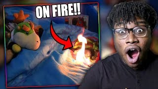 BOWSER JR. BURNS DOWN HIS HOUSE! | SML Movie: Bowser Junior Gets Jinxed Reaction!