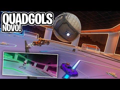 NOVO MINIGAME PROTEJA O SEU GOL, MAPA QUADGOLS! INCRÍVEL! - Rocket League thumbnail