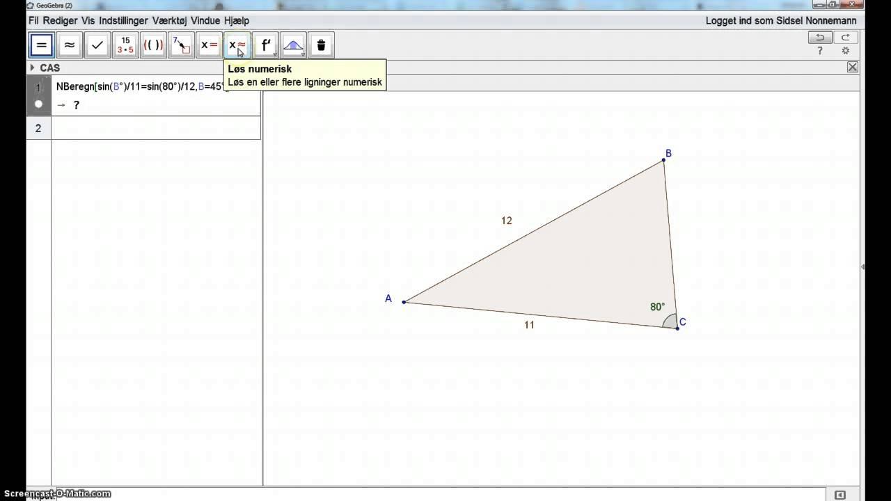 Trigonometri med GeoGebra