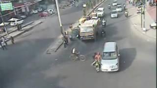 Road Accident - Bikes Crash by Bangalore Traffic Police jambh sonu b