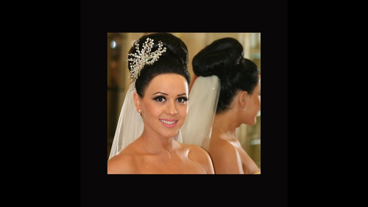 Wedding Hairstyles Bridal Bun Dry Waves Curly Updo