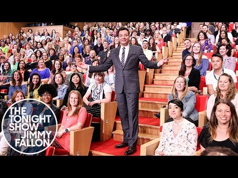 Jimmy Celebrates Teacher Appreciation Day with an Audience Full of NYC Teachers