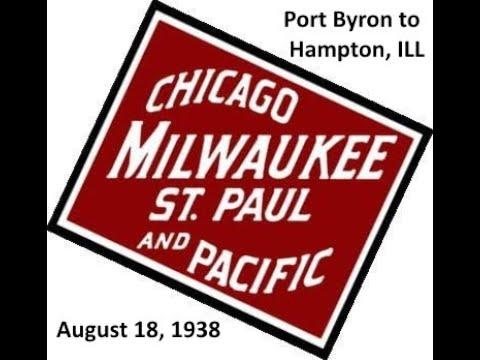 MILW Road Port Byron to Hampton, Illinois Aerial Photos 1930's