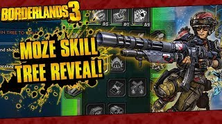 Borderlands 3 | Moze The Gunner Full In-Game Skill Tree Reveal!