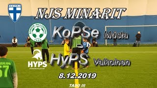 NJS Minarit P11 KoPSe Musta vs HyPS Valkoinen 8.12.2019