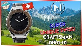 Super Unique Swiss w/NO CROWN! | NOVE Craftsman 200m Quartz D001-01 Unbox & Review