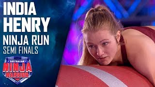 India Henry mounts a comeback and conquers the Warped Wall | Australian Ninja Warrior 2019