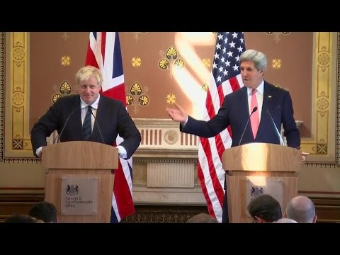 Secretary Kerry, UK Foreign Secretary Johnson Hold Press Ava