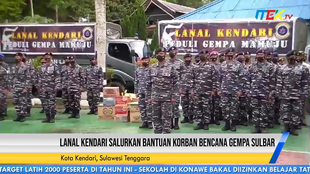 Lanal Kendari Salurkan Bantuan Korban Bencana Gempa Sulbar