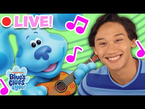 🔴LIVE: Blue's Clues & You Sing Along Songs! | Nursery Rhymes for Kids | Blue's Clues & You!