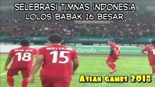 Selebrasi Timnas Indonesia U23 Usai Menang Melawan Hongkong 3-1 Asian Games 2018