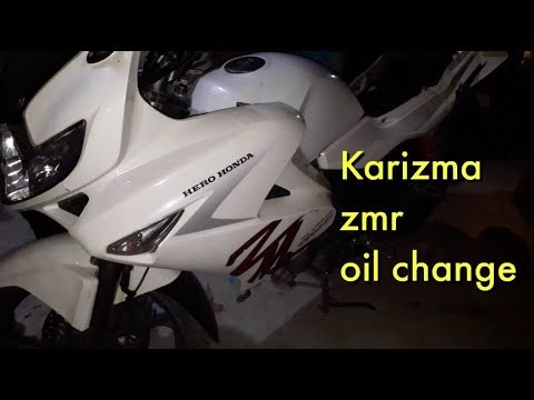 karizma zmr oil change