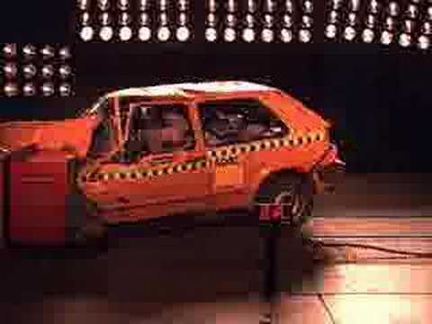 crash test volkswagen golf mk youtube