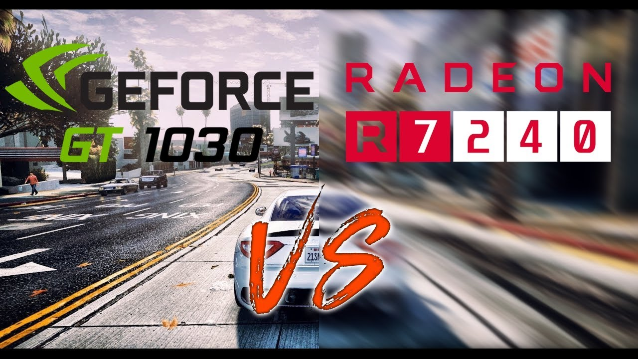 R7 240 vs GT 1030 OC Test in Games 2018 - #1