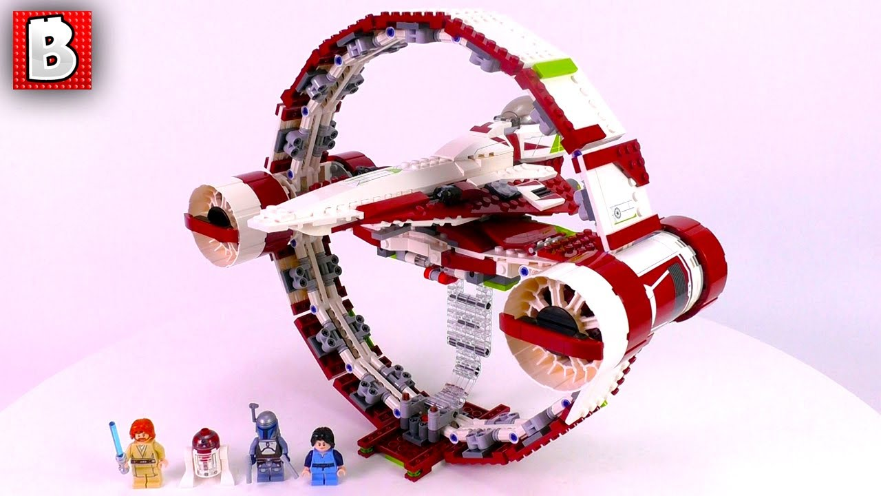 Jedi Starfighter With Hyperdrive Booster Ring Lego