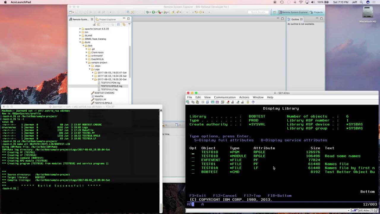 Using Better Object Builder for IBM i from command line