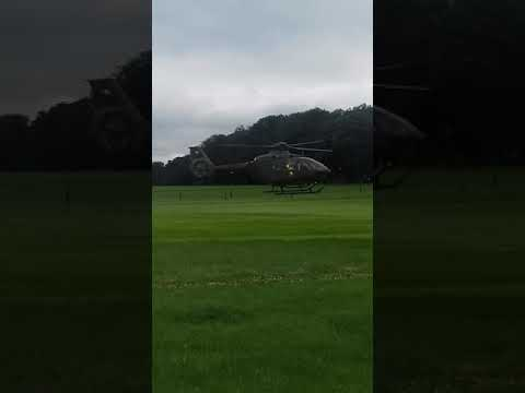 Irish defence forces eurocopter EC135 P2+ air ambulance in action