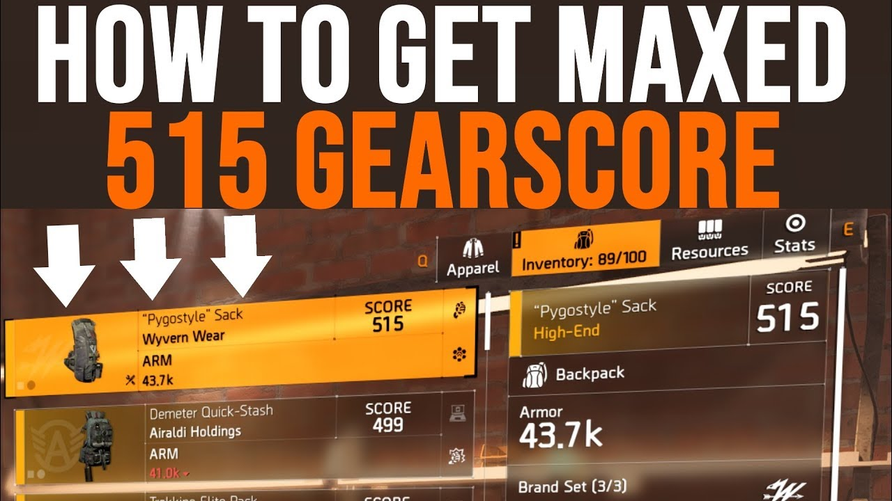 The Division 2 How to Get Max Gear Score: How To Get 515 Items