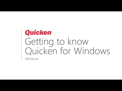 Quicken For Windows - Getting To Know Quicken For Windows