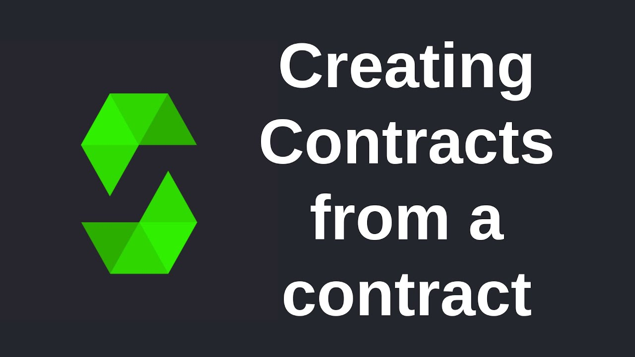 Learning Solidity (0.5) - Creating Contracts from a Contract