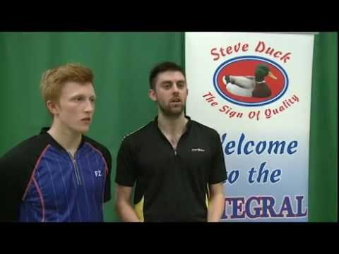 North East Badminton Interview with men's doubles winners Clare and Wright