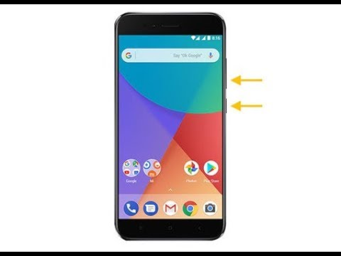 Como Tomar Captura de Pantalla o Screenshot en un Xiaomi A1 2018