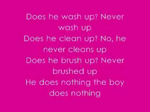 Alesha Dixon - The Boy Does Nothing - With Lyrics