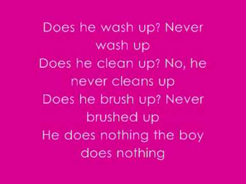 Alesha Dixon - The Boy Does Nothing - With Lyrics