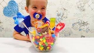 Учим цвета с цветными конфетами. Видео для детей.  Learn colors with candies.