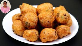 டீ போடுற நேரத்துல டீ கடை உளுந்து போண்டா இதுபோல செஞ்சி பாருங்க | Snacks Recipes in Tamil