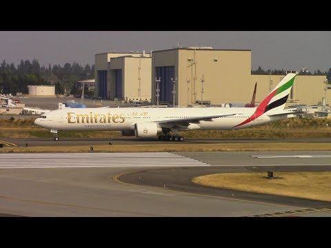 Emirates Boeing 777-300ER Rejected Take Off at Paine Field