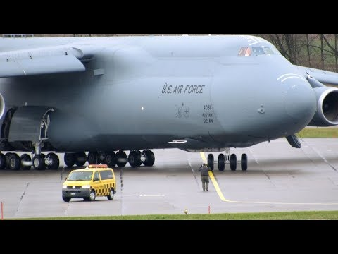 US Air Force Lockheed C-5M Galaxy Spectacular Early Rotation