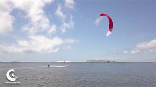 Kitesurfing with Ozone chrono in light wind at Lo Stagnone Sicily [4K drone]