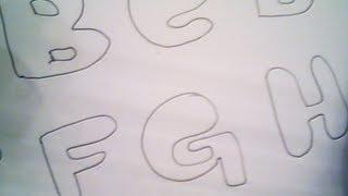 8. deseneaza cu Connie / draw with Connie - bubble letters
