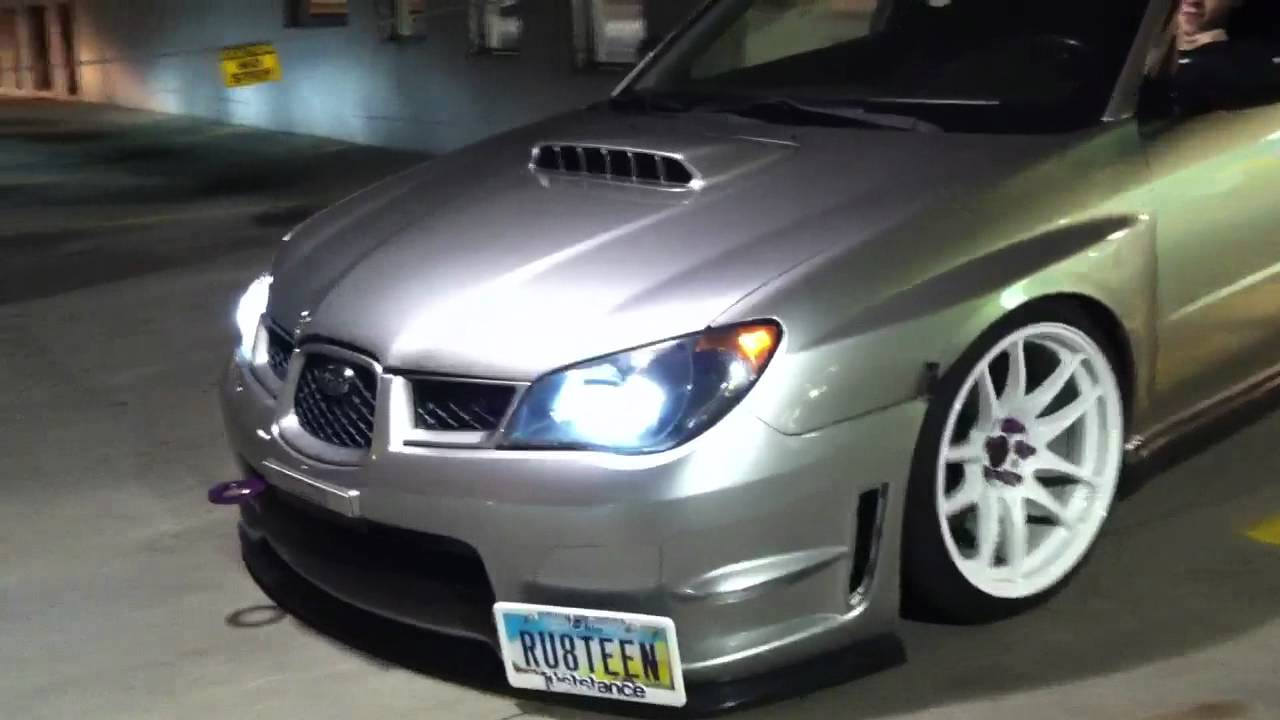Slammed WRX and BMW 750il Scrapping - YouTube