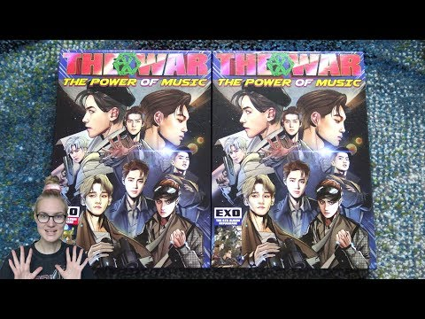 Unboxing EXO 엑소 4th Studio Album Repackage The War: The Power Of Music (Korean & Chinese Edition)