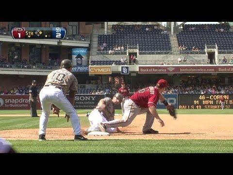 ARI@SD: Eaton turns two on great catch, amazing throw