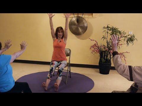 Teaching Old Dogs New Tricks! Full Seated Chair Yoga Sun Salutations